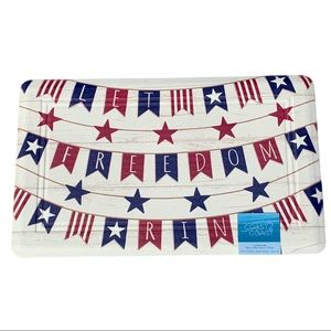 """Patriotic 'Let Freedom Ring' 18x30"""" Cushioned Mat"""